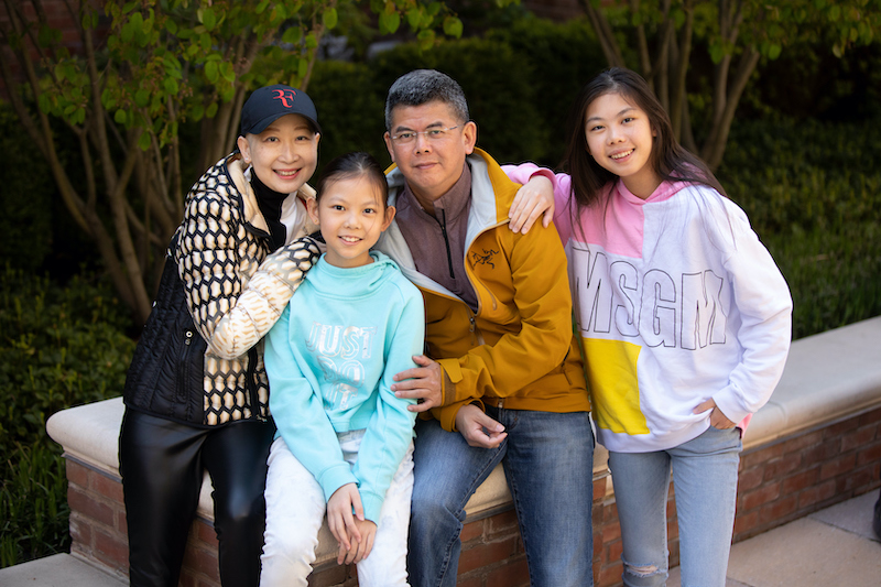 Ling Jin and family