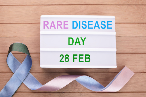 image of lightbox with rare disease day written on it
