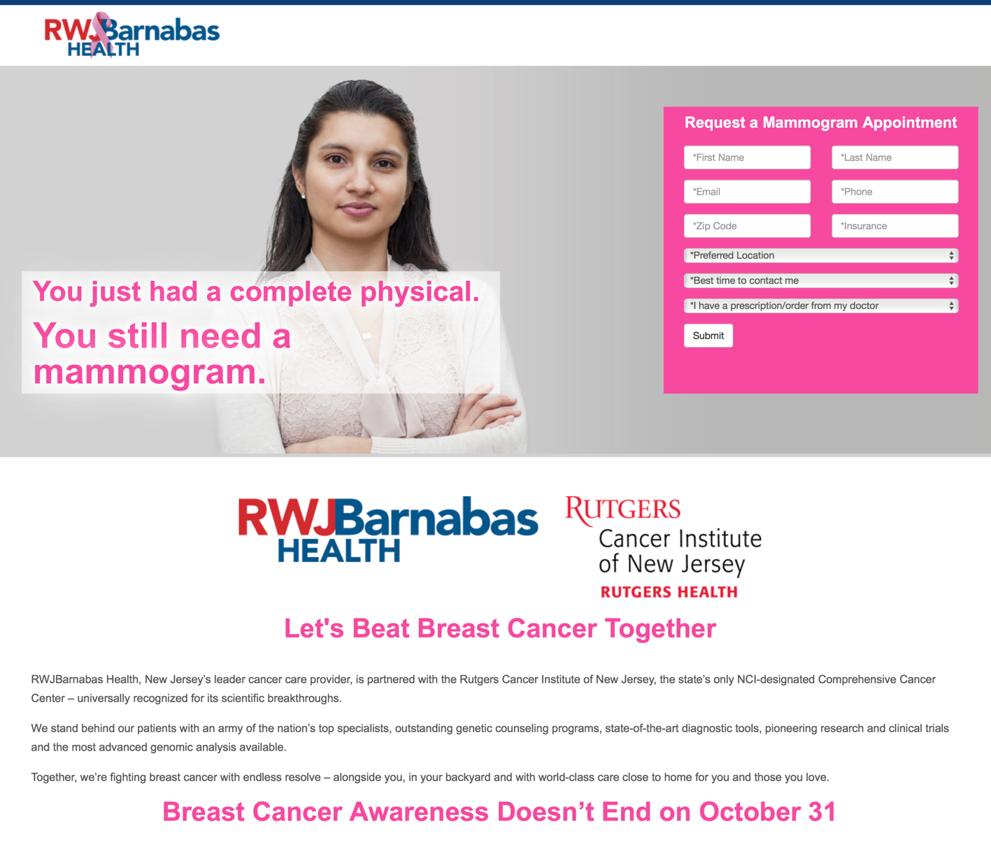 Let's Beat Breast Cancer Together