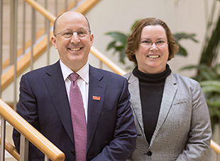 Portrait of Dr. Libutti and Dr. White
