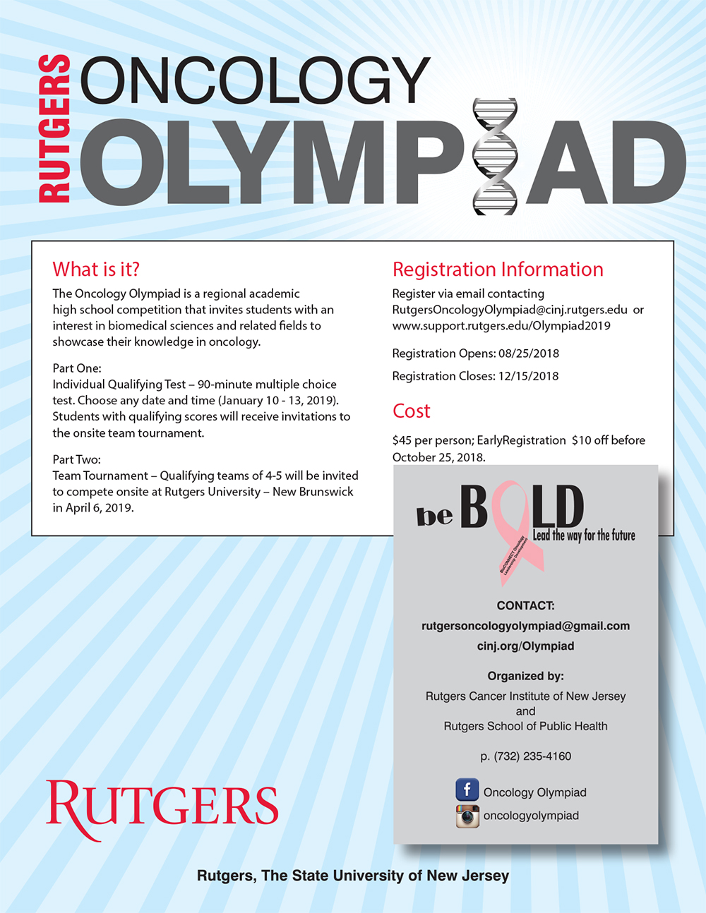2019 Rutgers Oncology Olympiad