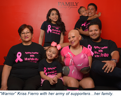 Kriss Fierro and her family