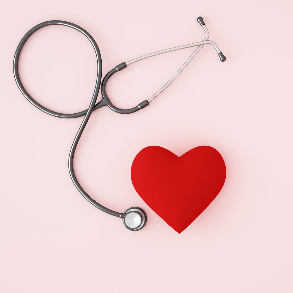 Top Docs graphic heart with stethoscope